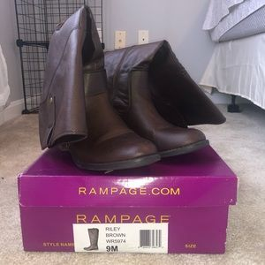 Rampage calf high Riley brown boots